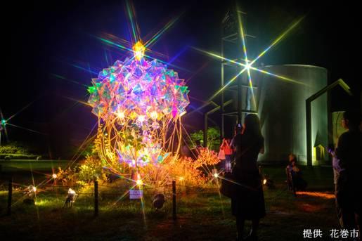 童話村の森ライトアップ2021