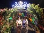 彩る光 幻想的 ナイトガーデン 花巻温泉バラ園がIwanichi Online 岩手日日新聞社で紹介されました