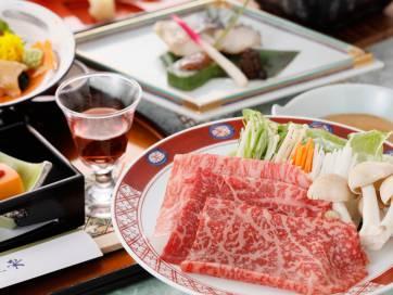 【黒毛和牛しゃぶしゃぶ付】お食事処で和食膳◆露天湯めぐり満喫