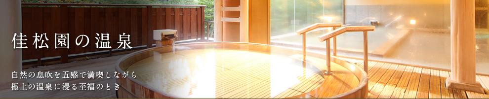 佳松園の温泉